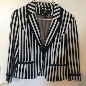 H&M striped blazer size 8